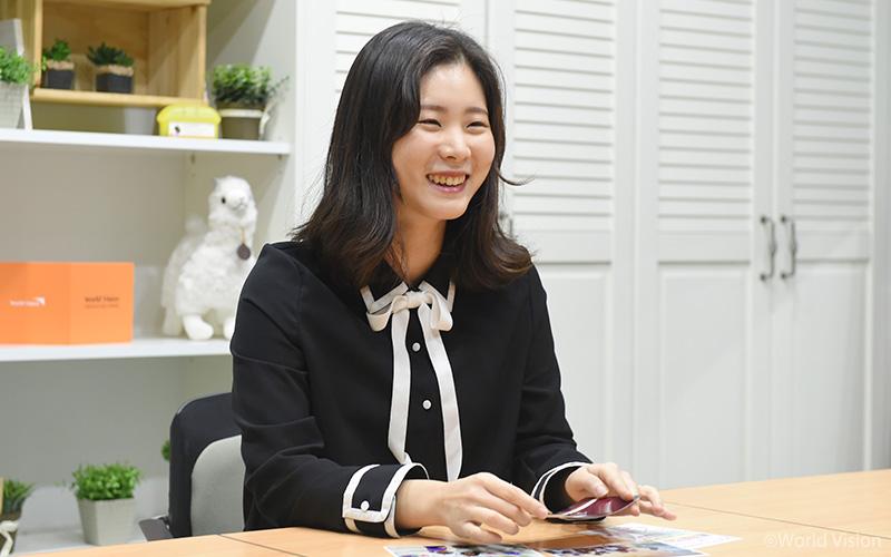 꿈을 말하는 연희 씨의 환한 웃음.