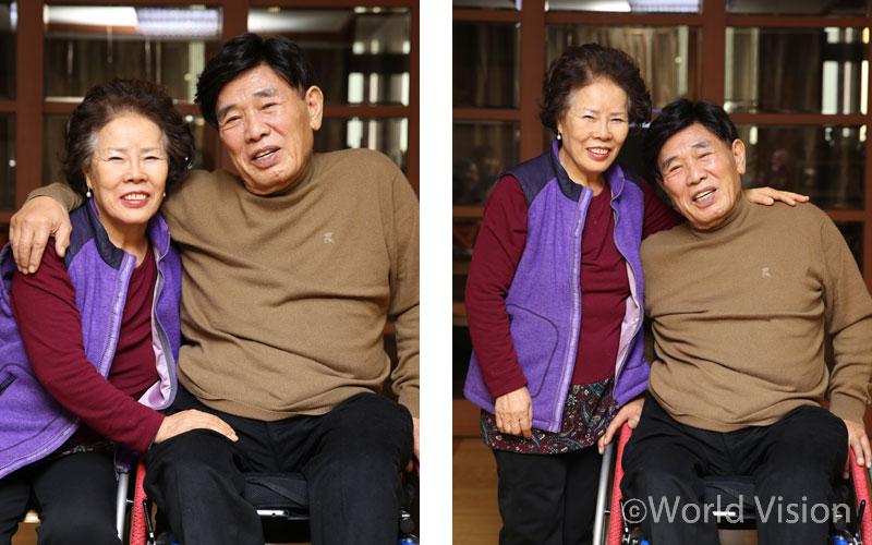 """""""죽을 줄만 알았던 남편이 지금도 살아있어요."""" 아내는 힘든 시간을 이겨낸 남편이 자랑스럽다. 남편도 50여년을 든든하게 곁을 지켜 준 아내가 고맙다."""