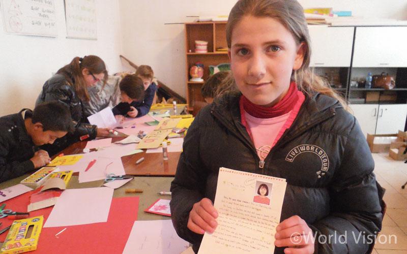 이채원 후원자의 수기와 편지를 받은 후원아동 헤르멜리나