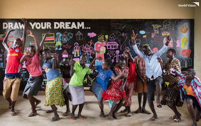 우간다 비디비디 난민촌, 월드비전 피스클럽 아이들