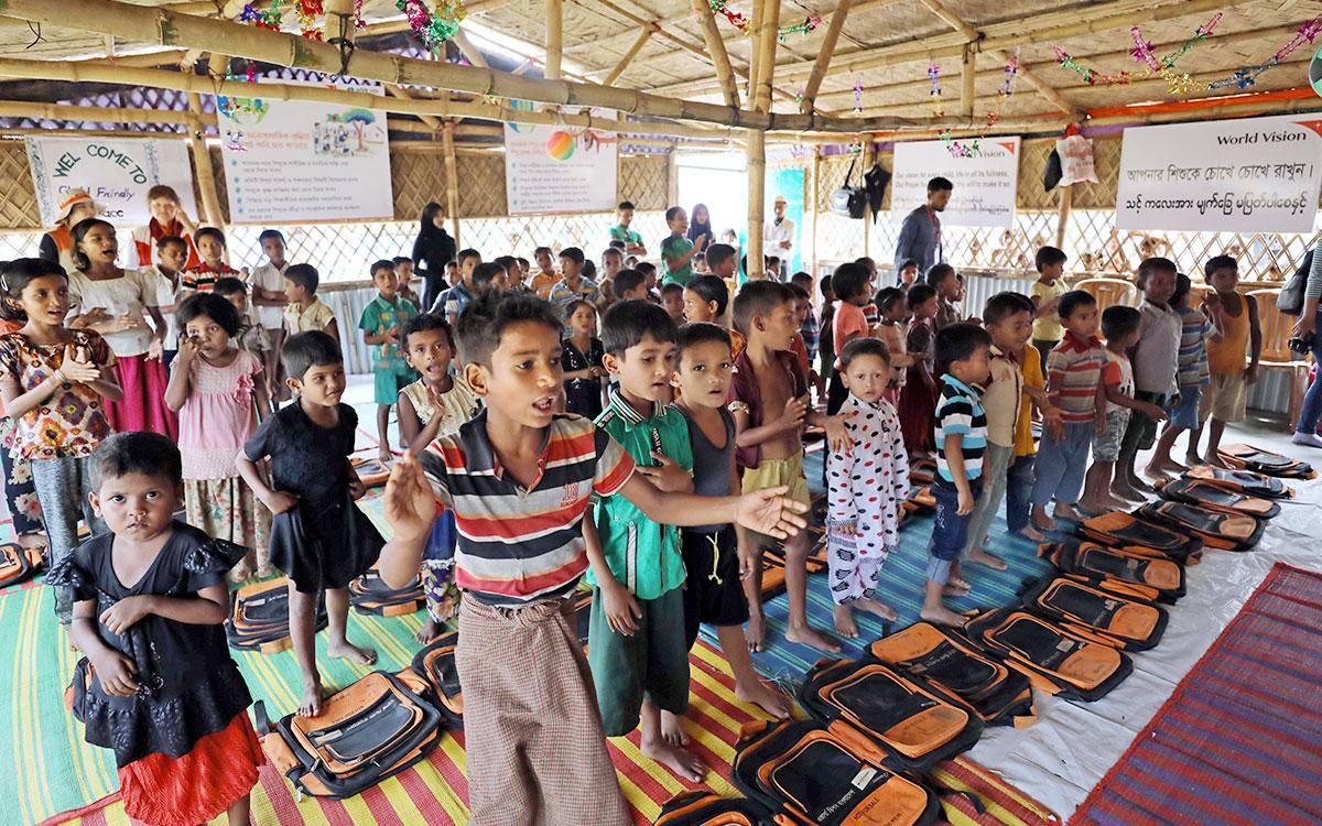 아동친화공간(CFS)에서 노래하는 아이들 (사진 한겨레 백소아 기자)