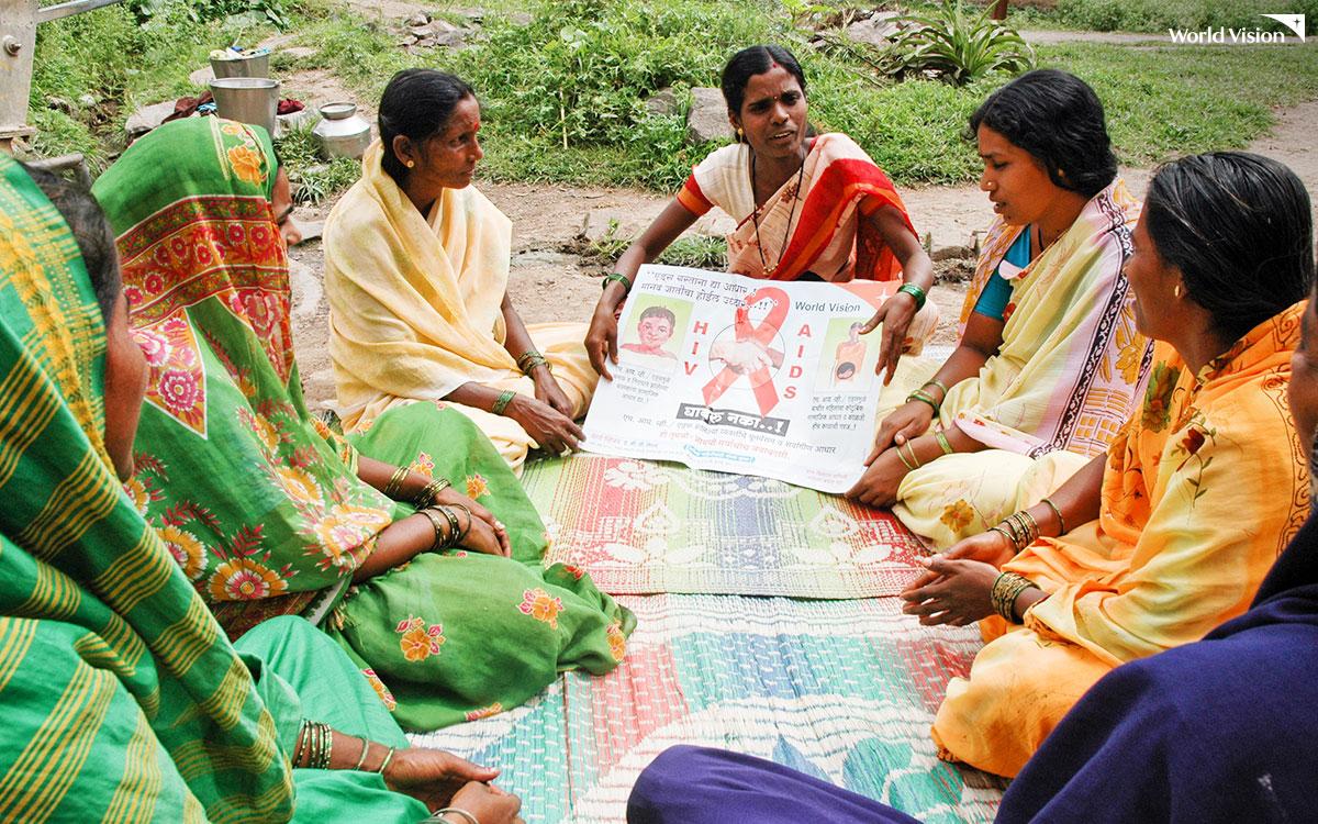 에이즈 예방 및 인식 개선 활동 모습