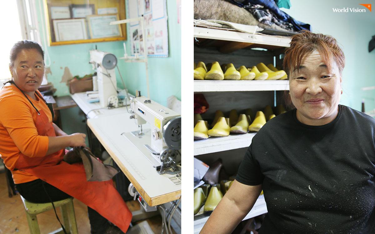 수제화조합에서는 가죽을 다듬어 신발을 만들기까지 모든 공정이 주민들의 야무진 손끝으로 이루어진다.
