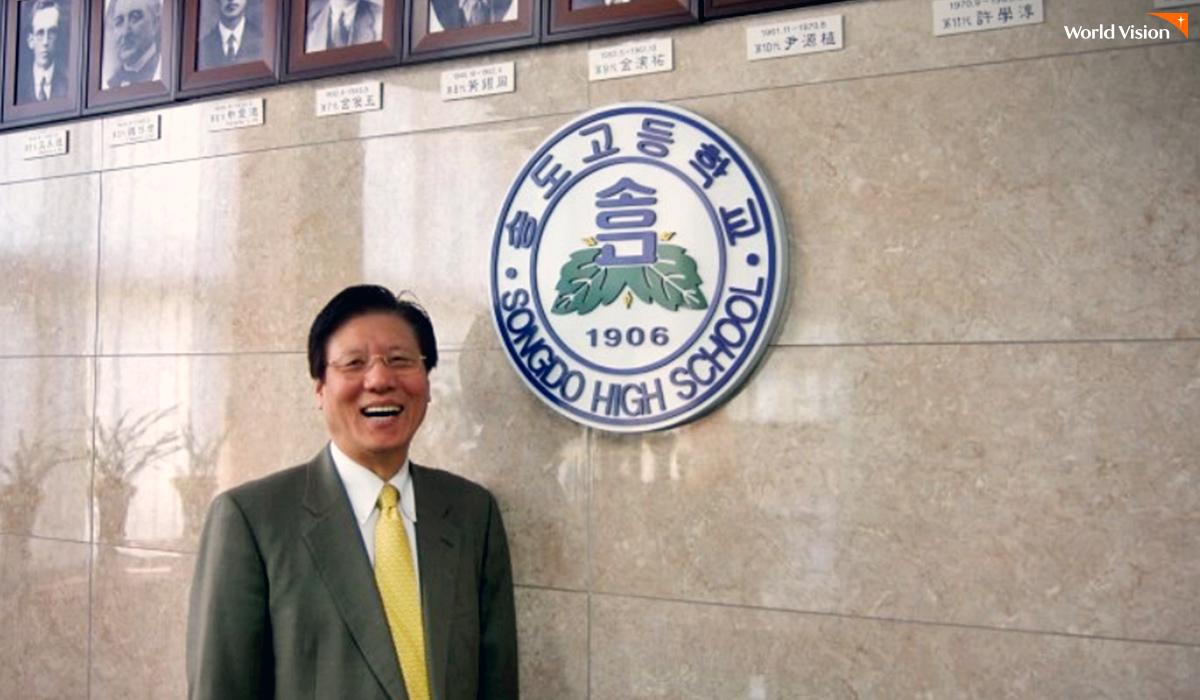 송도고등학교 교장 시절의 모습