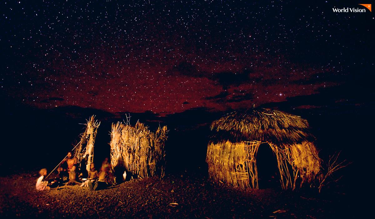 케냐의 밤하늘