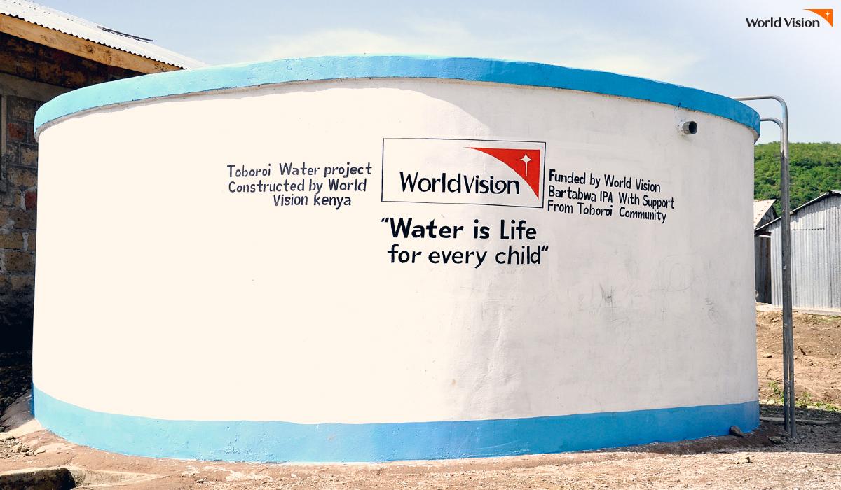 케냐에 설치되는 워터 탱크 시설