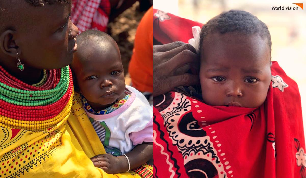 진료를 위해 Daaba 보건소를 찾은 아이들