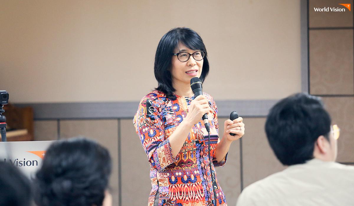 한국 후원자들의 나눔으로 변화된 베트남 이야기를 들려주는 베트남월드비전 회장