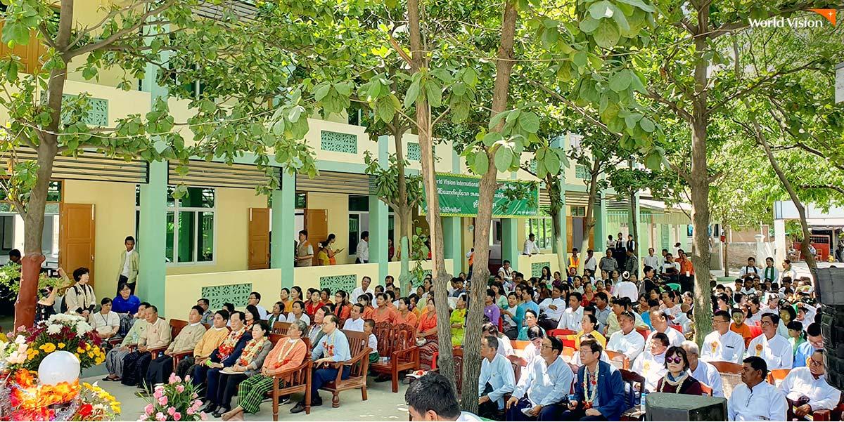 이민성 후원자의 후원으로 완공된 미얀마 학교