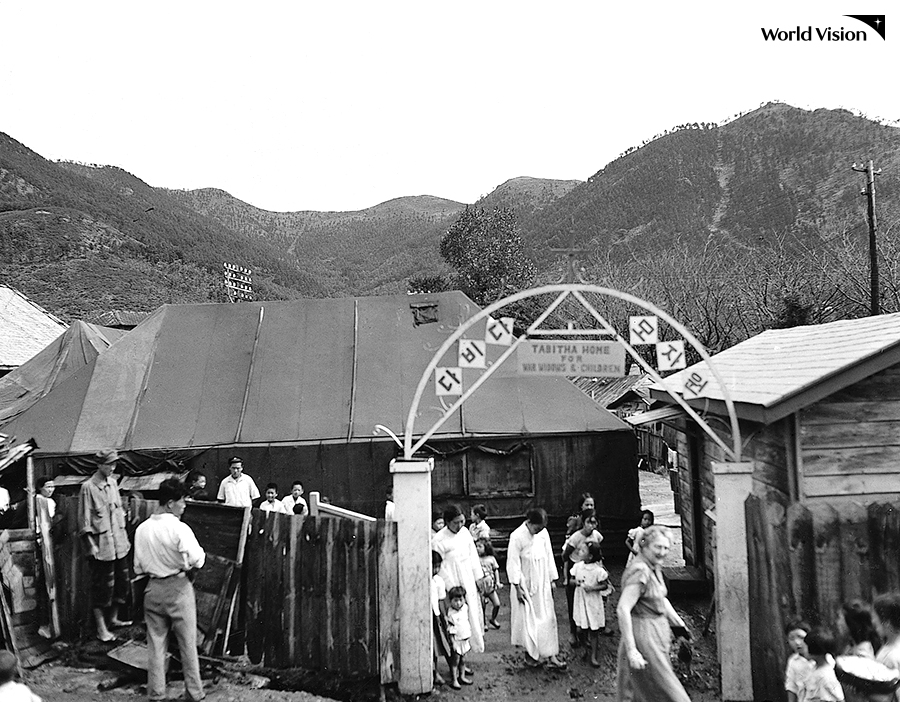 월드비전이 전쟁고아들과 미망인을 위해 설립한 다비다모자원