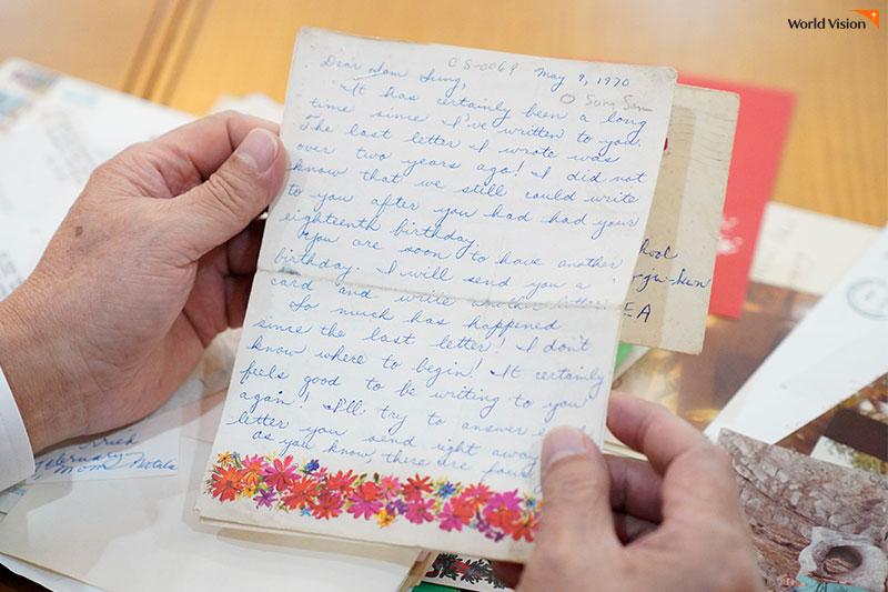 어린 시절, 미국인 월드비전 후원자가 보내주신 주고 받은 편지들