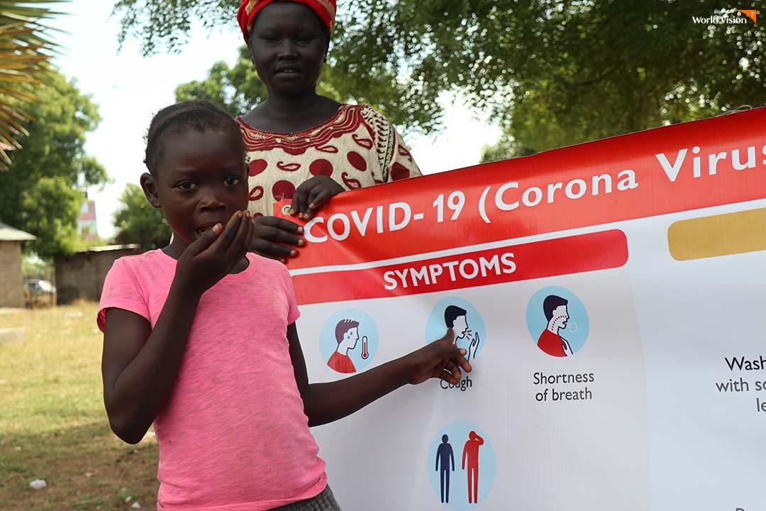 남수단에서 진행 중인 코로나-19 예방 행동 지침 교육