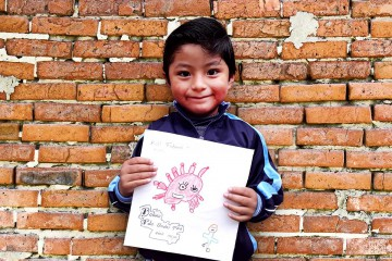 나의 영웅인 의료 종사자들에게 하고싶은 이야기를 그림으로 표현한 어린이