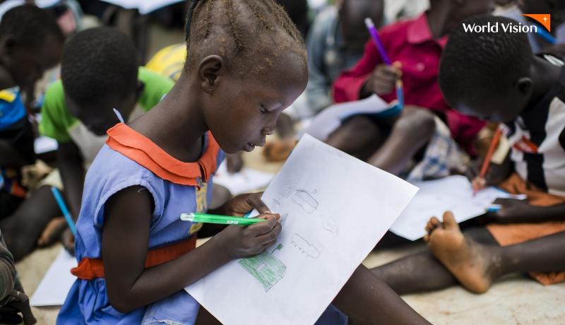 그림그리는 해외아동