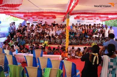 인도 아야콜라투 학생들과 현대제철 해피무브 봉사단