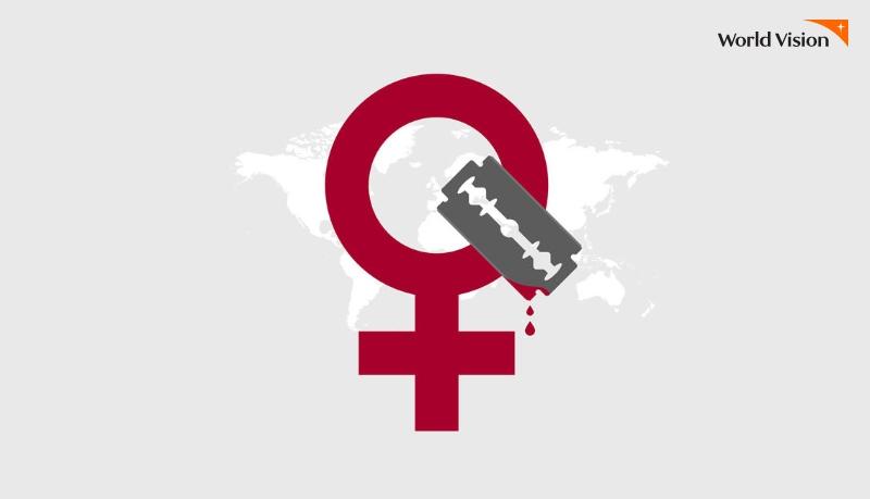 여성할례 관련 일러스트